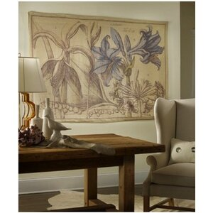 French Linen Vintage Botanical Graphic Art on Canvas by Tapestries, Ltd.