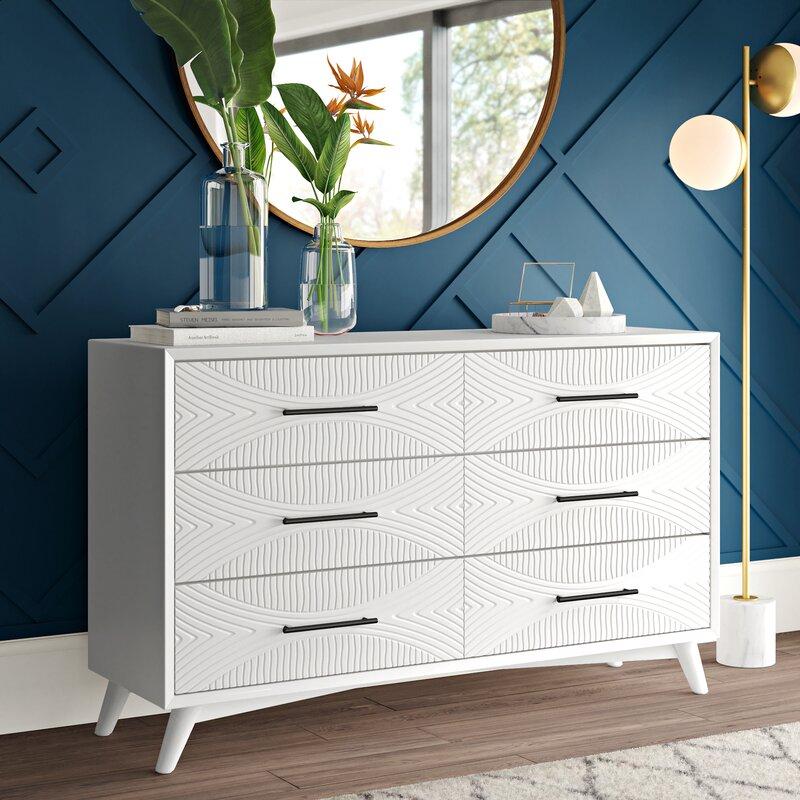 Mercury Row Abe 6 Drawer Double Dresser