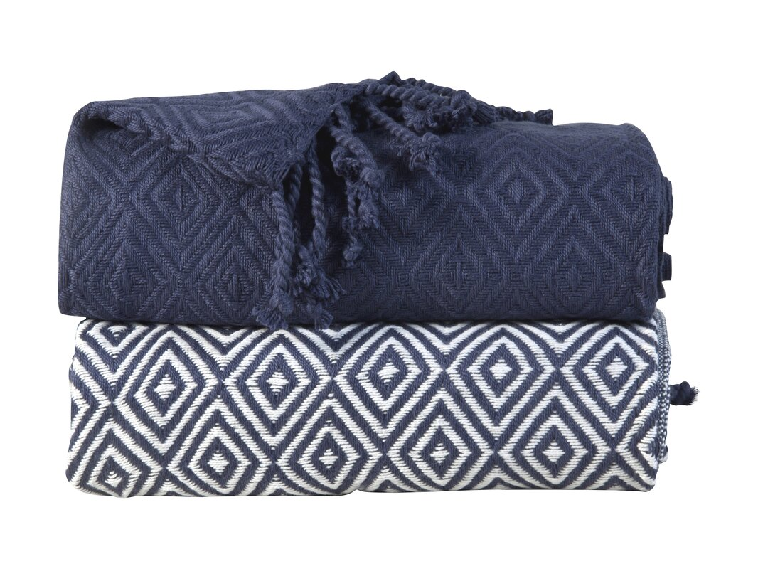 elegancia diamond weave cotton throw blanket. affinity linens elegancia diamond weave cotton throw blanket
