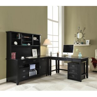 Inexpensive Sebastiao 4 Piece L-Shape Desk Office Suite ByDarby Home Co