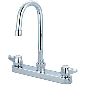 Central Brass Double Handle Centerset Standard Kitchen Faucet