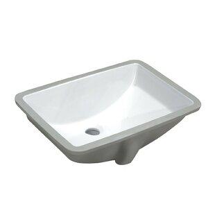 Pegasus Vitreous China Rectangular Undermount Bathroom Sink with Overflow ANZZI
