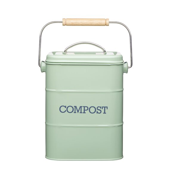 White//Grey Addis 2.5-Litre Kitchen Compost Caddy Carry Handle Addis Branded