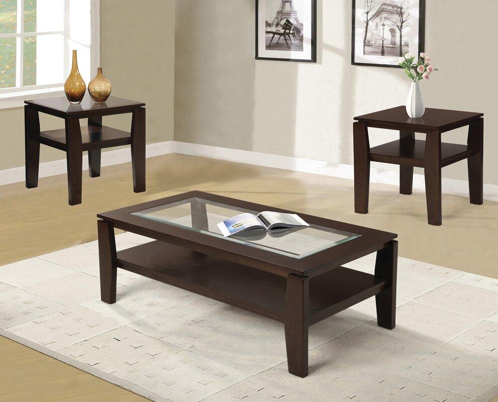 red barrel studio golder 3 piece coffee table set rdbs1670