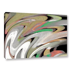 'Falling off the Edge' Watercolor Painting Print on Wrapped Canvas by Zipcode Design