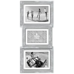 Beveled Panel Gray Wash Picture Frame