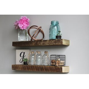 Price Check Clem Reclaimed Barn Wood Floating Accent Wall Shelf (Set of 2) By Williston Forge