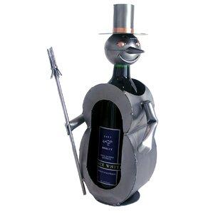 Snowman 1 Bottle Tabletop Wine Rack by H & K SCULPTURES