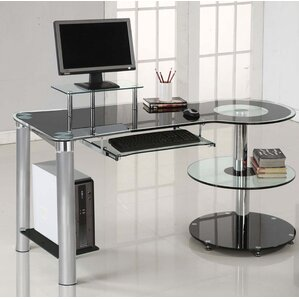 Glass Desks Youu0027ll Love | Wayfair