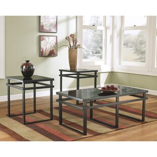 Prompton 3 Piece Coffee Table Set Latitude Run