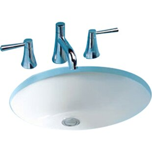 Top Rendezvous Ceramic Circular Undermount Bathroom Sink with Overflow By Toto