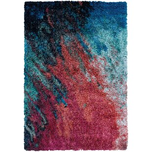Pangburn Sunset Red/Turquoise Area Rug by Wrought Studio