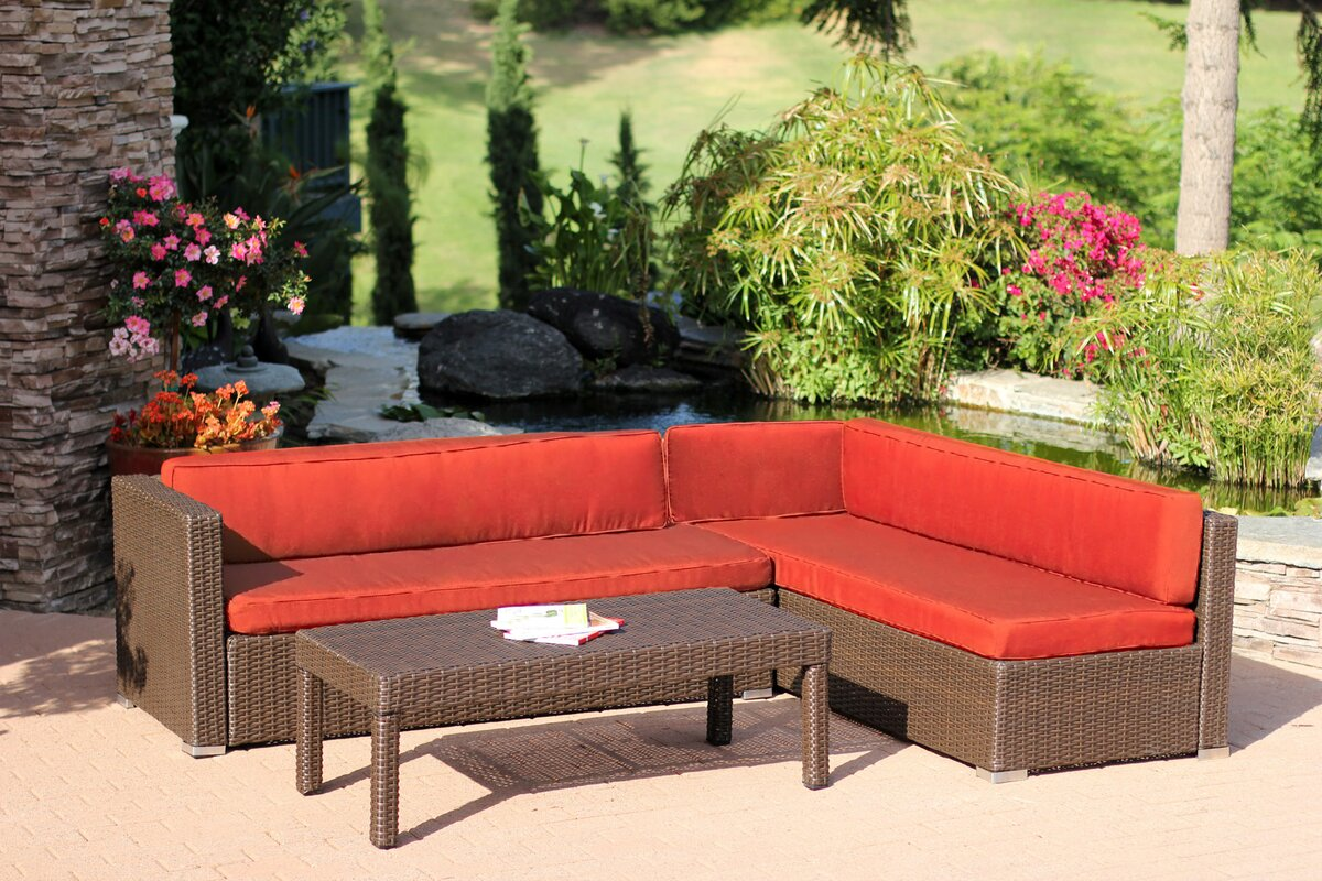 Doerr 3 Piece Sectional Set with Cushions