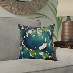 Kam Abstract Floral Outdoor Throw Pillow By Bloomsbury Market