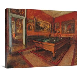 'Billiard Room, ca.1892. Musee d'Orsay, Paris, France' by Edgar Degas Painting Print on Wrapped Canvas by Great Big Canvas