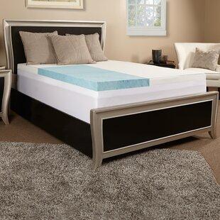 Shop 4 Gel Memory Foam Mattress Topper ByLuxury Solutions