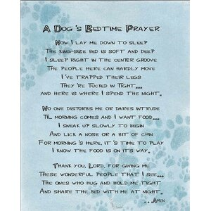 A Dog's Bedtime Prayer Textual Art by LPG Greetings