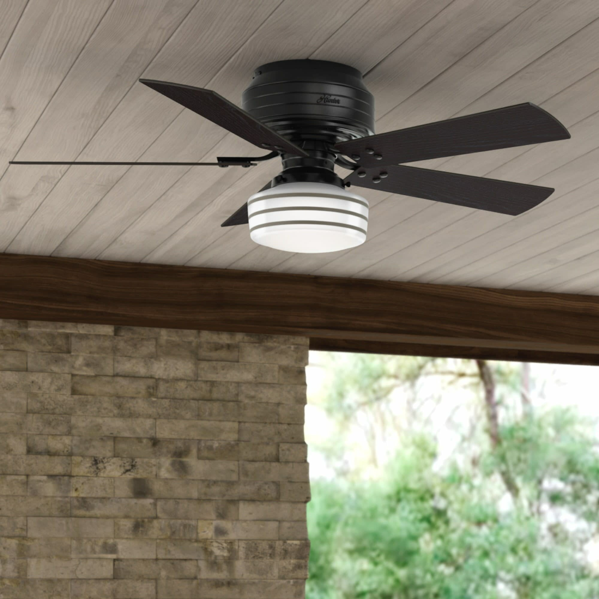 52 Cedar Key 5 Blade Flush Mount Ceiling Fan With Remote Control And Light Kit Included Reviews Joss Main