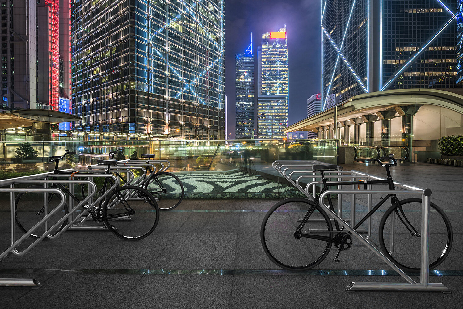 Support Velo Au Plafond barberton anchored bike rack