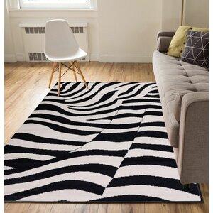 Emeline Zebra Black/Tan Area Rug