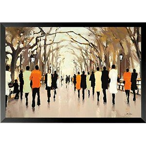 'Poets Walk' Framed Graphic Art Print Poster by Red Barrel Studio