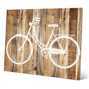 'Bicycle Wood' Wall Art by Click Wall Art