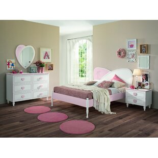 rosenberger kids panel 4 piece bedroom set - Pink Bedroom Set