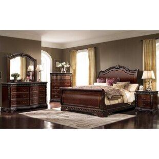 Muni California King Sleigh 4 Piece Bedroom Set ByAstoria Grand