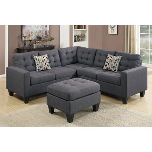 Charcoal Gray Sectional Sofa | Wayfair