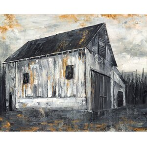 'Copper Barn I' by Sandy Doonan Painting Print on Wrapped Canvas by Portfolio Canvas Decor