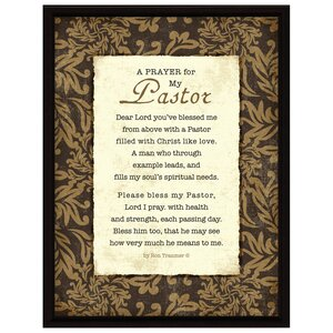 Simple Expressions Prayer..Pastor Framed Textual Art by Dexsa