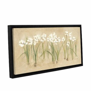 Row Narcissus Framed Painting Print on Wrapped Canvas by Ophelia & Co.