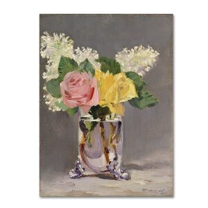 'Lilacs and Roses' by Edouard Manet Print on Wrapped Canvas by Trademark Fine Art