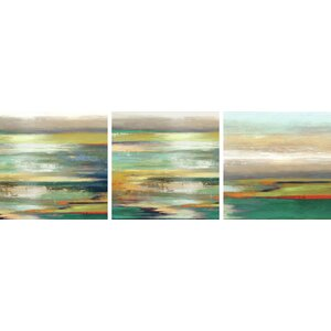 'Evening Tide/Tribute' 3 Piece Painting Print on Wrapped Canvas Set by Wade Logan