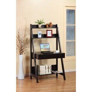 leaning ladder desks you ll love wayfair rh wayfair com leaning bookshelf desk crate barrel leaning desk with shelves uk