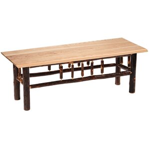 Wood Bench by Fireside Lodge