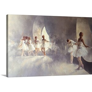 Ballet Studio by Peter Miller Painting Print on Canvas by Canvas On Demand