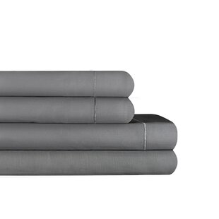 Top Amboy Hotel Cotton Blend Solid Color Sheet Set ByCanora Grey