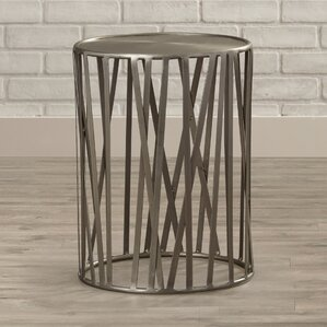 Kori Drum End Table by 17 Stor..