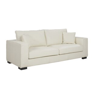 Charmant Leka Large Modern Top Grain Leather Sofa