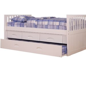 Edmond 3 Drawer Underbed Storage Unit for Youth Bunk Beds by Harriet Bee