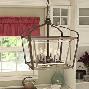 Price comparison Evangeline 6-Light Foyer Pendant By Laurel Foundry Modern Farmhouse