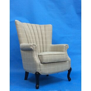 Matha Stripe Wingback Chair ...