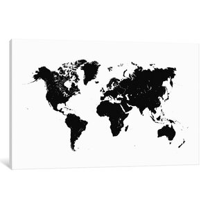 'World' Graphic Art on Wrapped Canvas by East Urban Home