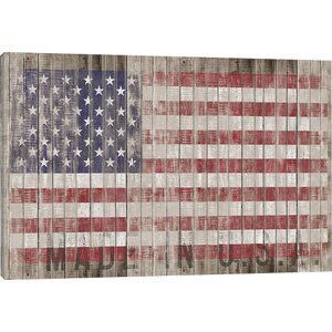 'American Flag I' Graphic Art Print by August Grove