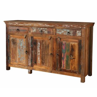 Petit Borendy Reclaimed Wood 3 Drawer 3 Door Accent Cabinet
