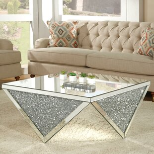 Inexpensive Blaker Mirrored Coffee Table By Rosdorf Park