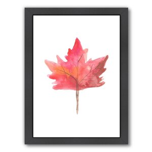 'Leaf 1' Framed Painting Print by East Urban Home