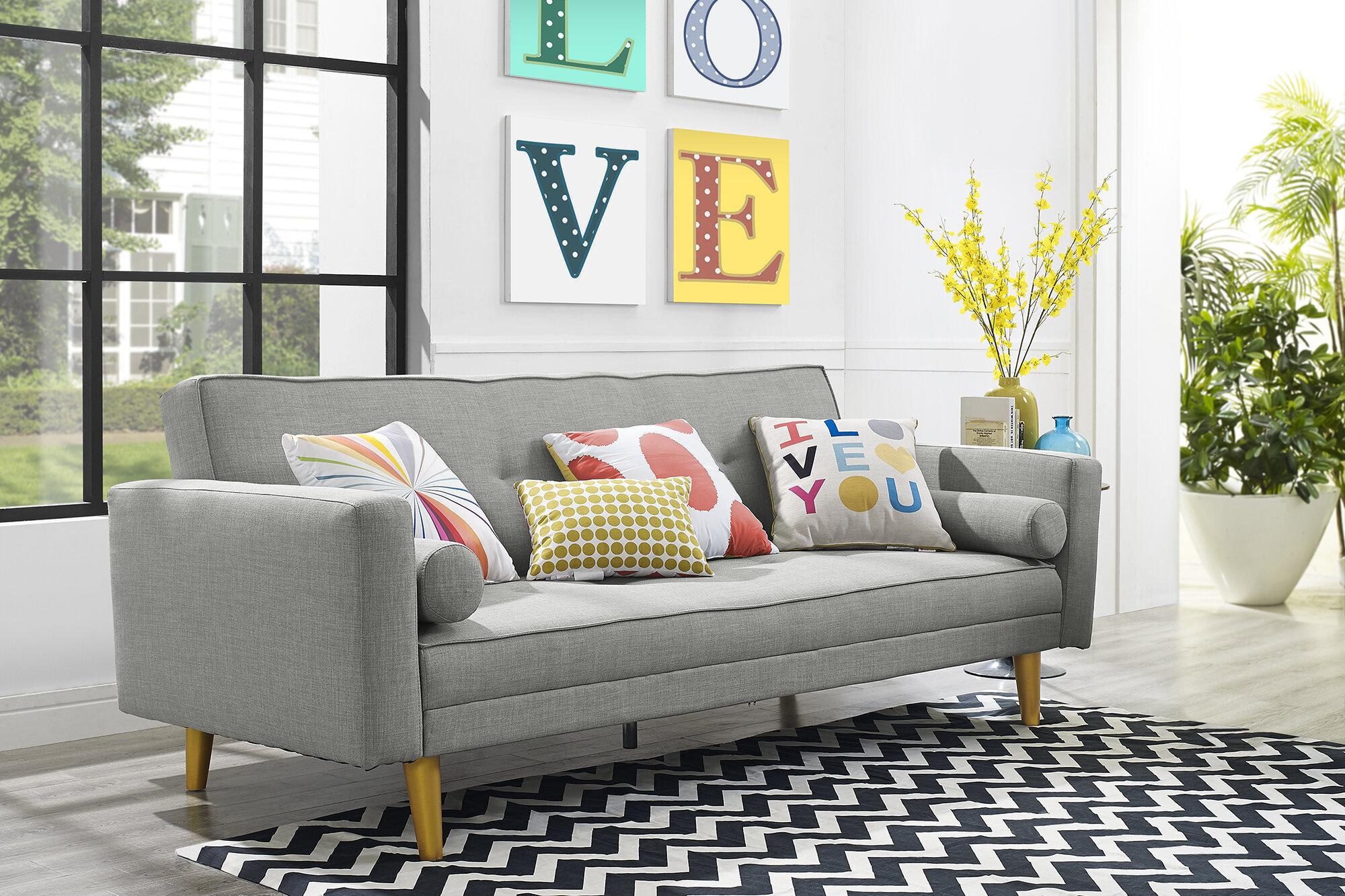 Awesome Novogratz Vintage Mix Convertible Sofa Andrewgaddart Wooden Chair Designs For Living Room Andrewgaddartcom