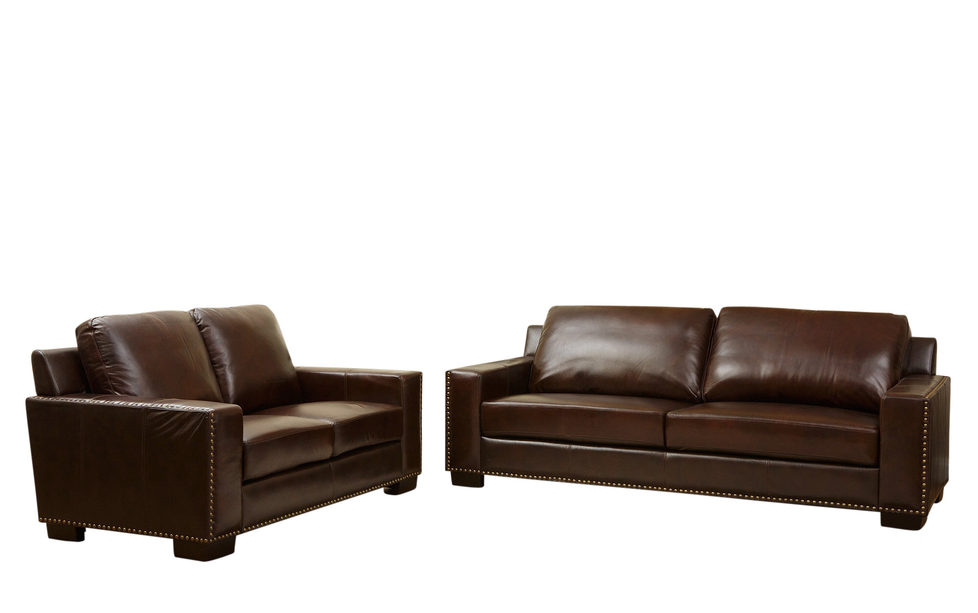 Darby Home Co William 2 Piece Leather Living Room Set | Wayfair